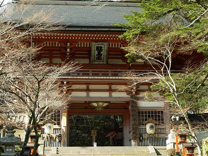 京都の鞍馬山を歩く