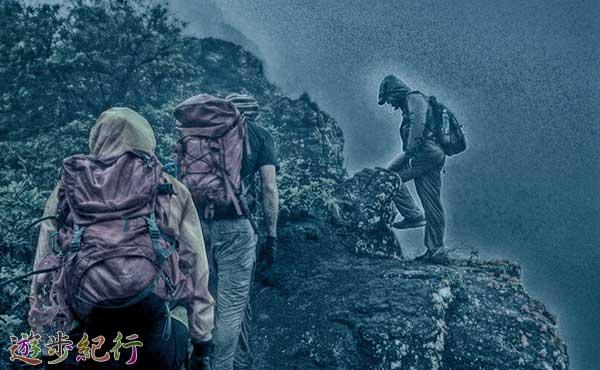 悪天候の登山